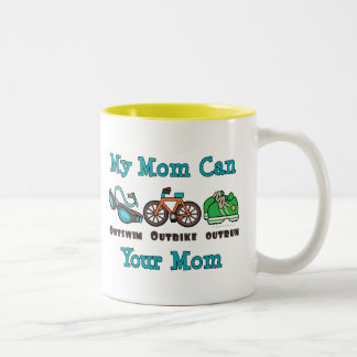 Mom Outswim Outbike Outrun Triathlon Mug