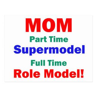 Mom Part Time Supermodel Postcards