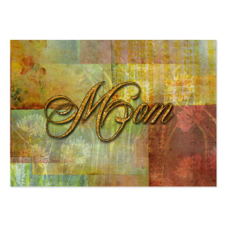 Mom Patch Quilt Design Background Business Cards