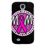 mom pink ribbon and stripes awareness samsung galaxy s4 cover