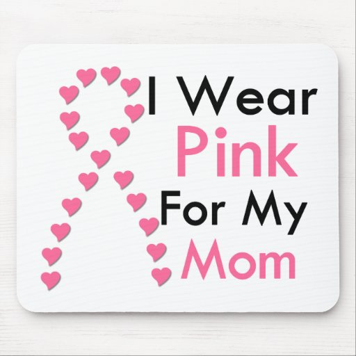Mom Pink Ribbon Breast Cancer Mouse Pad