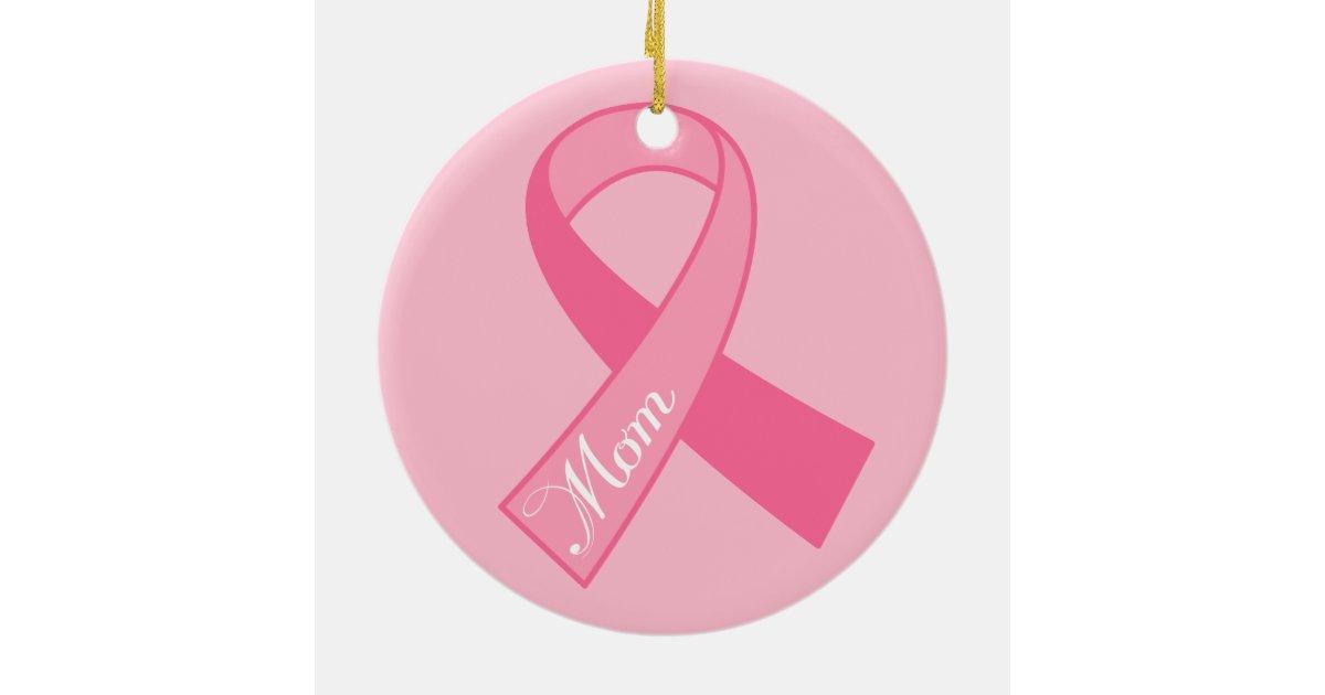 breast cancer ornament ribbon