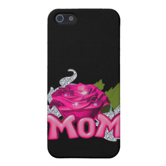 Mom & Pink Tattoo Rose Diamond iPhone SE/5/5s Case