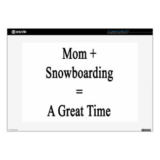 Mom Plus Snowboarding Equals A Great Time Decals For Laptops