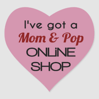 Mom & Pop's Online Shop Heart Stickers