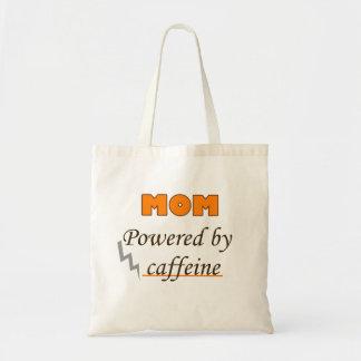 Mom Powered by caffeine Budget Tote Bag