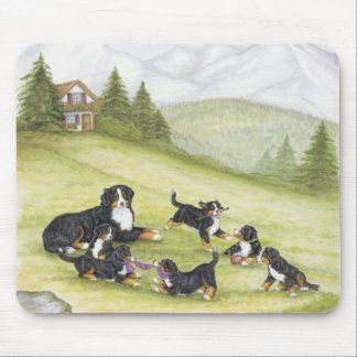 Mom & Pups Mouse Pad