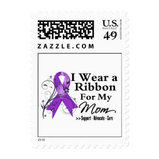 Mom Purple Ribbon - Pancreatic Cancer Postage Stamp