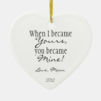 Mom quote christmas ornament