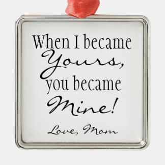 Mom quote christmas tree ornaments