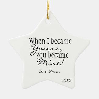 Mom quote star ornament
