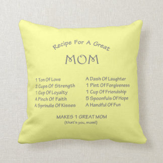 Mom Recipe Throw Pillow