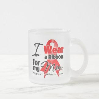 Mom - Red Ribbon Awareness Mugs