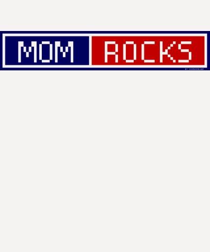 Mom Rocks Blog Button Tee