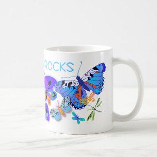 'Mom Rocks' Classic White Coffee Mug