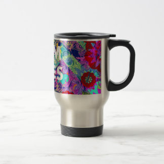 MOM RULES Colorful Floral Mothers Day gifts Travel Mug