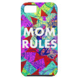 MOM RULES Colorful Floral Mothers Day iPhone Case iPhone 5 Cover