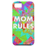 MOM RULES Colorful Mothers Day iPhone 5 Case