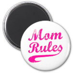 Mom Rules Funny Saying Magnet Magnet