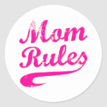 Mom Rules Funny Saying Sticker