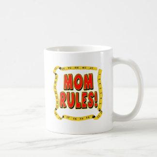 Mom Rules Classic White Coffee Mug