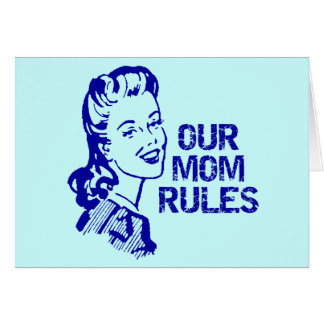 Mom Rules T-shirts and Gifts For Her Card