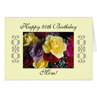 Mom s 80th birthday greeting cards