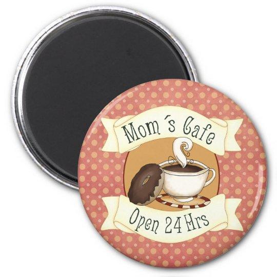 Mom´s Café 2 Inch Round Magnet