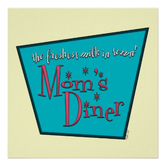 Mom s Diner Breastfeeding Print