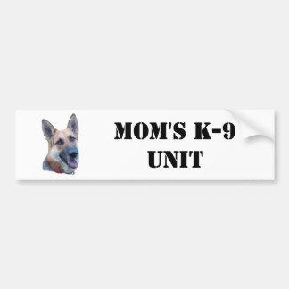 Mom s K-9 Unit Bumper Sticker