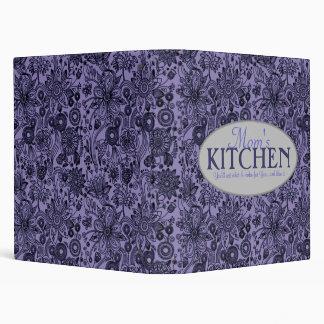 Mom s Kitchen 1 Inch Blue Floral Recipe Binder