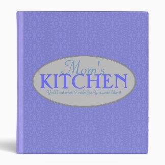 Mom s Kitchen 1 Inch Blue Lace Recipe Binder
