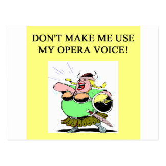 mom;s opera voice post card