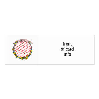 """""""Mom"""" Sash Floral Photo Frame Double-Sided Mini Business Cards (Pack Of 20)"""