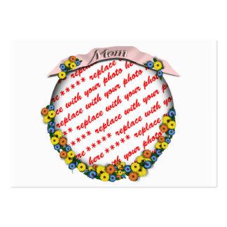"""Mom"" Sash Floral Photo Frame Large Business Cards (Pack Of 100)"