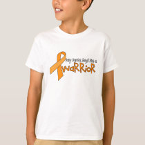 """Mom says I'm a warrior"" Kids Leukemia Tee"