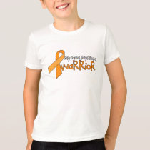 """Mom says I'm a warrior"" Kids Leukemia Tee"