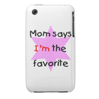 Mom says I'm the favorite (pink) iPhone 3 Cover