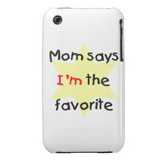 Mom says I'm the favorite (yellow) iPhone 3 Case-Mate Cases