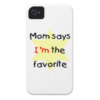 Mom says I'm the favorite (yellow) iPhone 4 Case-Mate Cases
