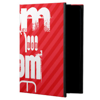 Mom; Scarlet Red Stripes Cover For iPad Air