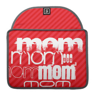 Mom; Scarlet Red Stripes MacBook Pro Sleeve