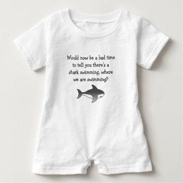 Beach Themed Mom...Shark! Baby Romper
