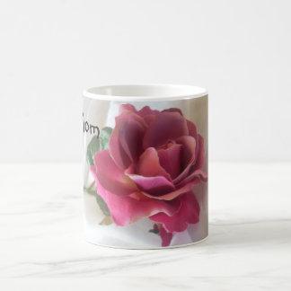 """MOM"" Single Rose Coffee Mug"
