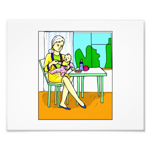 Mom sitting at table feeding baby graphic.png photo