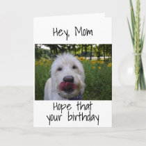 "***MOM*** SO HAPPY TO BE ""YOUR DAUGHTER"" BIRTHDAY CARD"