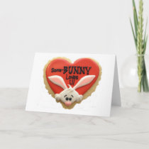 """MOM-SOME """"BUNNY"""" LOVES YOU AT EASTER-ME!!! HOLIDAY CARD"""