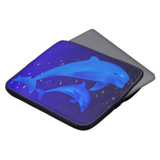 Mom & son dolphins computer sleeve