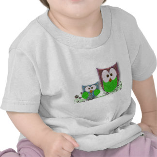 Mom & son owls toddler t-shirt