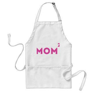 Mom Squared Funny Mom Math. Adult Apron